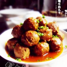 红咖喱牛筋丸子