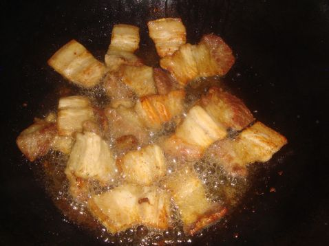面筋小炒五花肉的家常做法