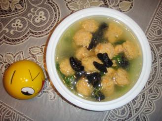 肉丸青菜汤的做法