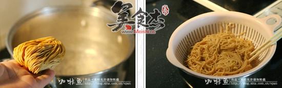 香菇干拌鲍鱼面的简单做法