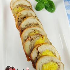 鸡肉咸蛋卷