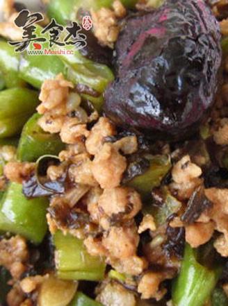 肉末橄榄菜四季豆的做法