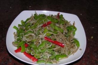 辣椒炒丁香鱼的做法