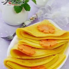 胡萝卜玉米蛋饼