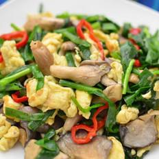 韭菜平菇炒雞蛋
