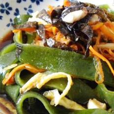 虾味菜汁凉皮