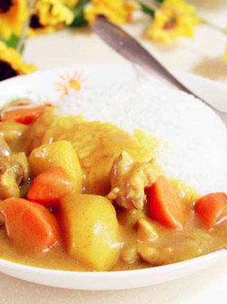 咖喱鸡块饭的做法