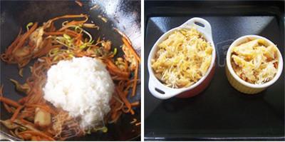 辣白菜焗饭的做法图解