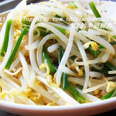 韭菜苔炒绿豆芽