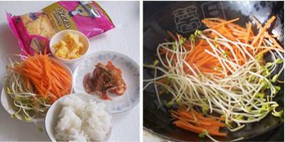 辣白菜焗饭的做法大全