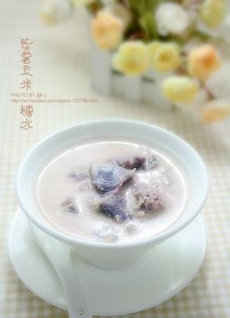 紫薯玉米糖水的做法