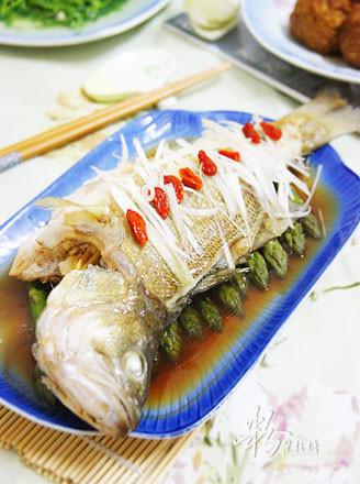 清蒸筍鱸魚的做法