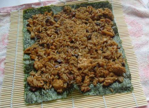 鸡肉香菇米饭紫菜卷怎么炖