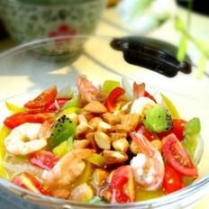 油醋汁虾仁蔬果沙拉