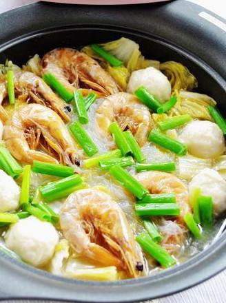 虾干白菜粉丝煲的做法