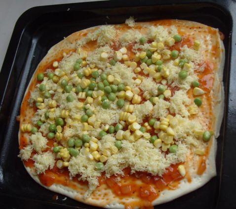 海鲜田园披萨怎么煸