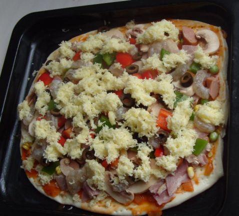 海鲜田园披萨怎样煸