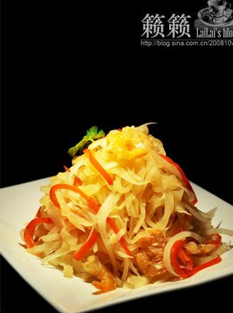 虾干炒萝卜丝的做法