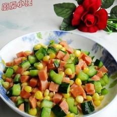 玉米火腿炒黄瓜