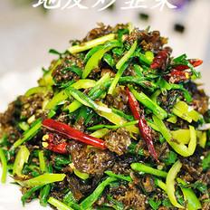 地皮炒韭菜