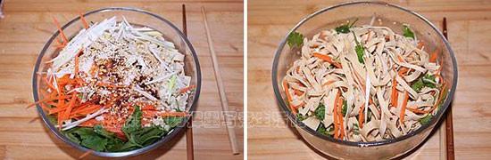 凉拌干豆腐的家常做法