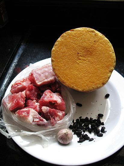 南瓜豆豉炒排骨的做法大全