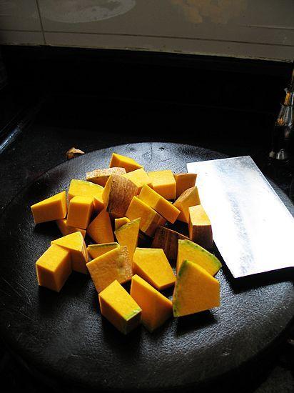 南瓜豆豉炒排骨的做法图解