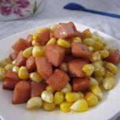 玉米炒火腿粒
