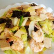海鲜豆腐卷心菜