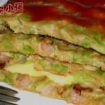 蔬菜虾仁蛋饼