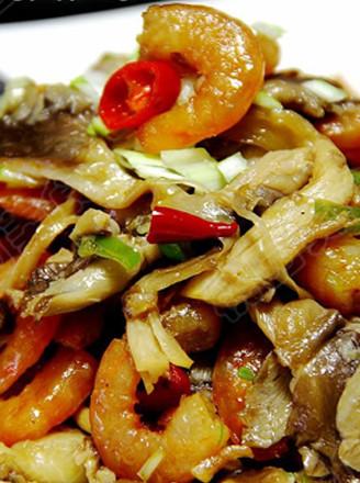 蝦干炒平菇的做法