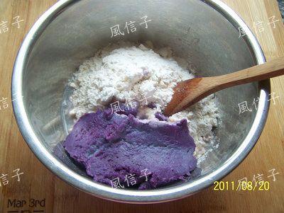 紫薯玉米蛋饼的家常做法