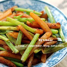 土豆條炒芹菜