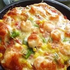 海鲜番茄芝士披萨