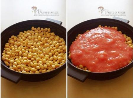 茄汁黄豆的家常做法