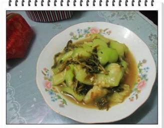 鸡毛菜炒丝瓜的做法