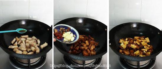 五花肉烧豆干的做法图解