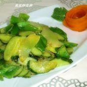 莴笋炒黄瓜