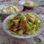 里脊圆白菜