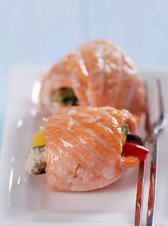 烤三文鱼卷的做法