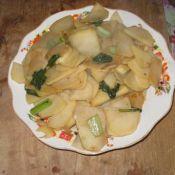 土豆炒油菜的做法大全