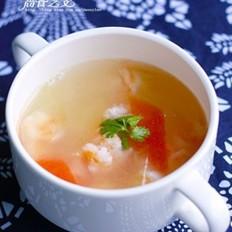 虾球瓜片汤