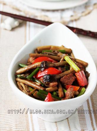 咸肉茶樹菇的做法