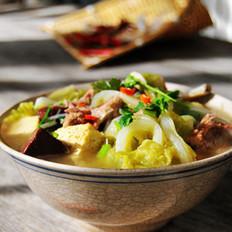 豆腐豬血熬白菜