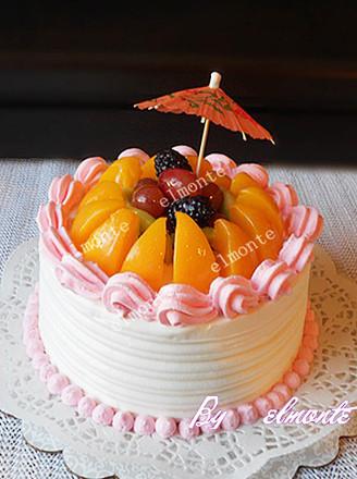 6寸水果蛋糕的做法