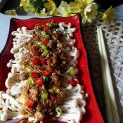肉末金针菇