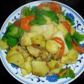 土豆片炒大辣椒