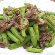 四季豆炒香菇