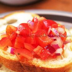 意式烤面包配番茄