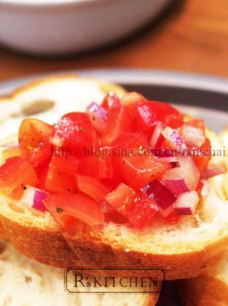 意式烤面包配番茄的做法
